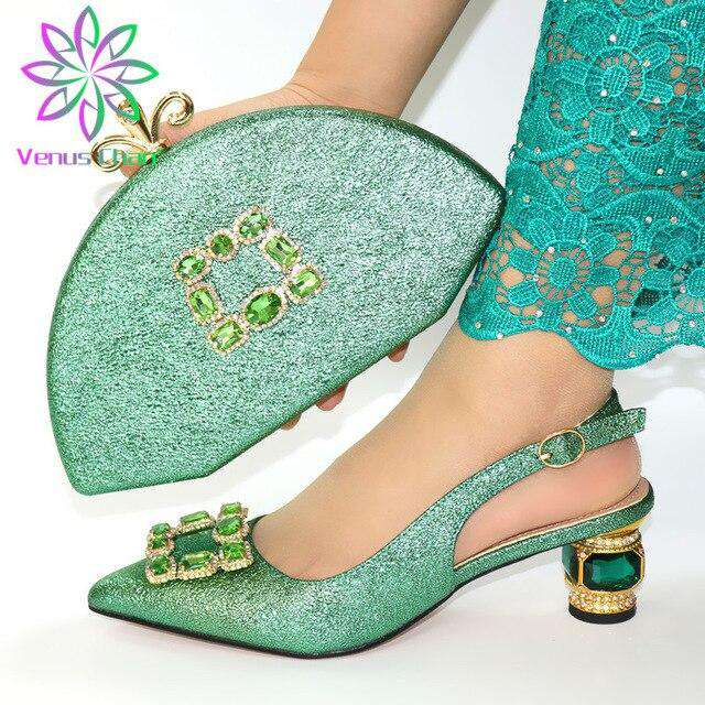 Italian Design Shoes and Bag To Matching African Shoes and Bag Set For Party Nigerian Women Fashion Shoe - Gustobene