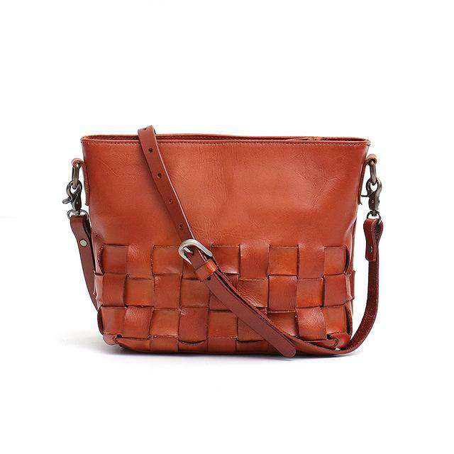 SC Luxury Leather Women Messenger Bag Handmade Retro Small Ladies Handbag Classic Italian Cow Leather Vintage Shoulder Crossbody - Gustobene