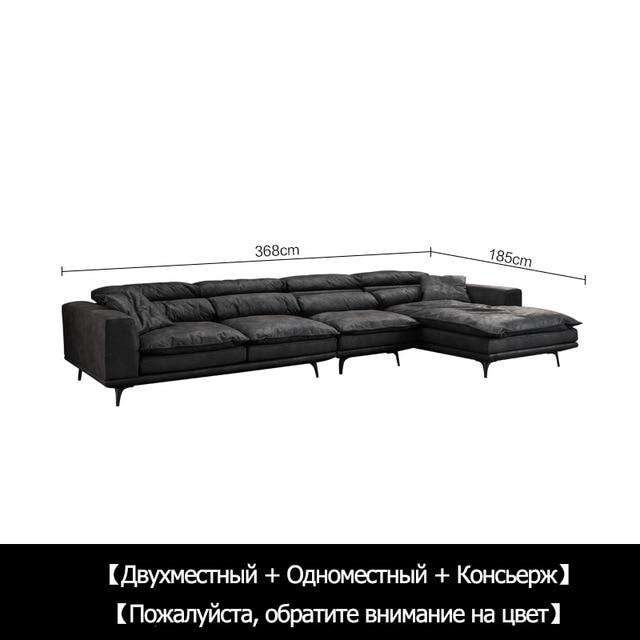 Cloth sofa down modern simple disposable wash ultra soft nordic black and white gray Italian minimalist light luxury sofa - Gustobene