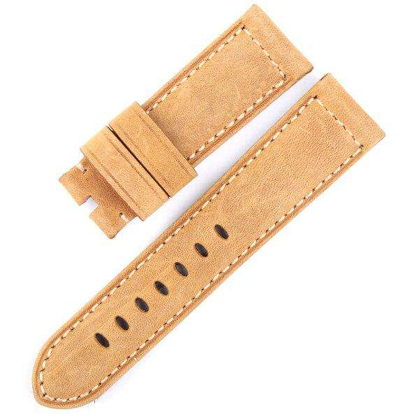 24MM Italian Retrol Cow Leather Watchband for Luxury Universal Watches Strap Band For P-anerai Man PAM Bracelet Handmade Tool - Gustobene
