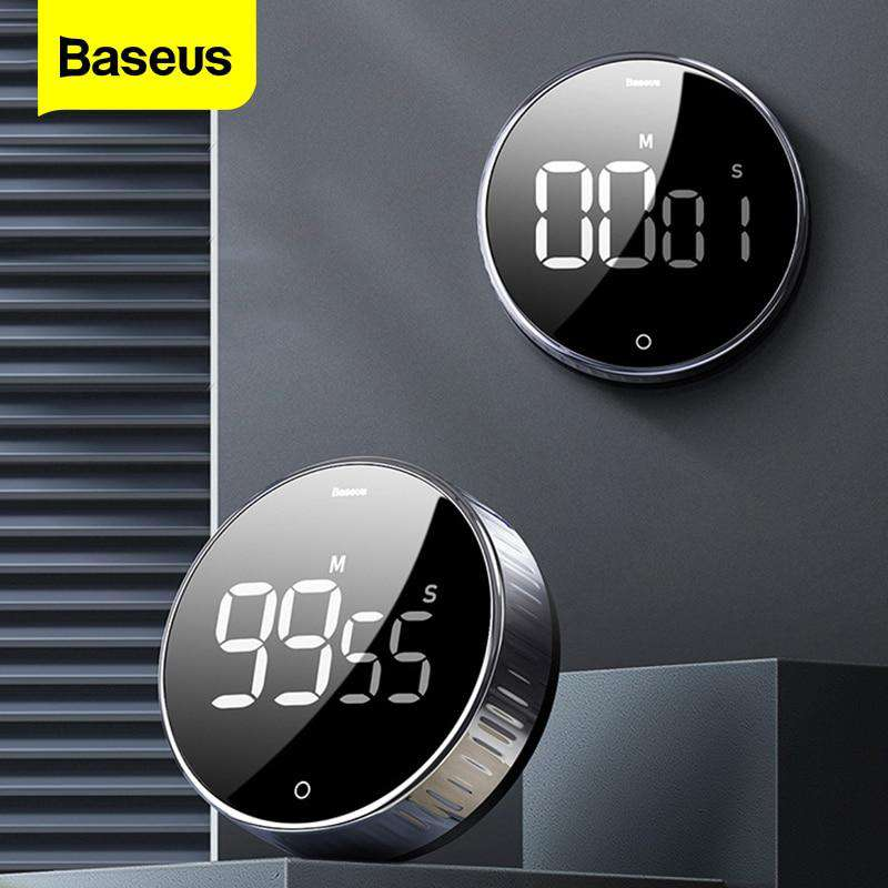 Baseus LED Digital Kitchen Timer For Cooking Shower Study Stopwatch Alarm Clock Magnetic Electronic Cooking Countdown Time Timer - Gustobene