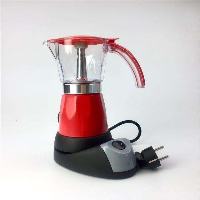 6cups 300ml Electric Espresso Coffee Maker Italian Moka Coffee Pot Percolator Coffee Moka Pot v60 Filters Mocha Coffe Machine - Gustobene