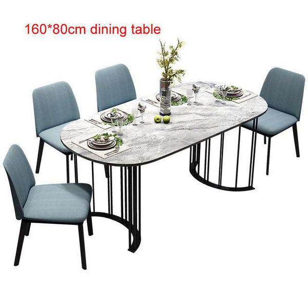 Rama Dymasty Italian  Dining Room Set Home Furniture modern marble dining table and  chairs,rectangle table
