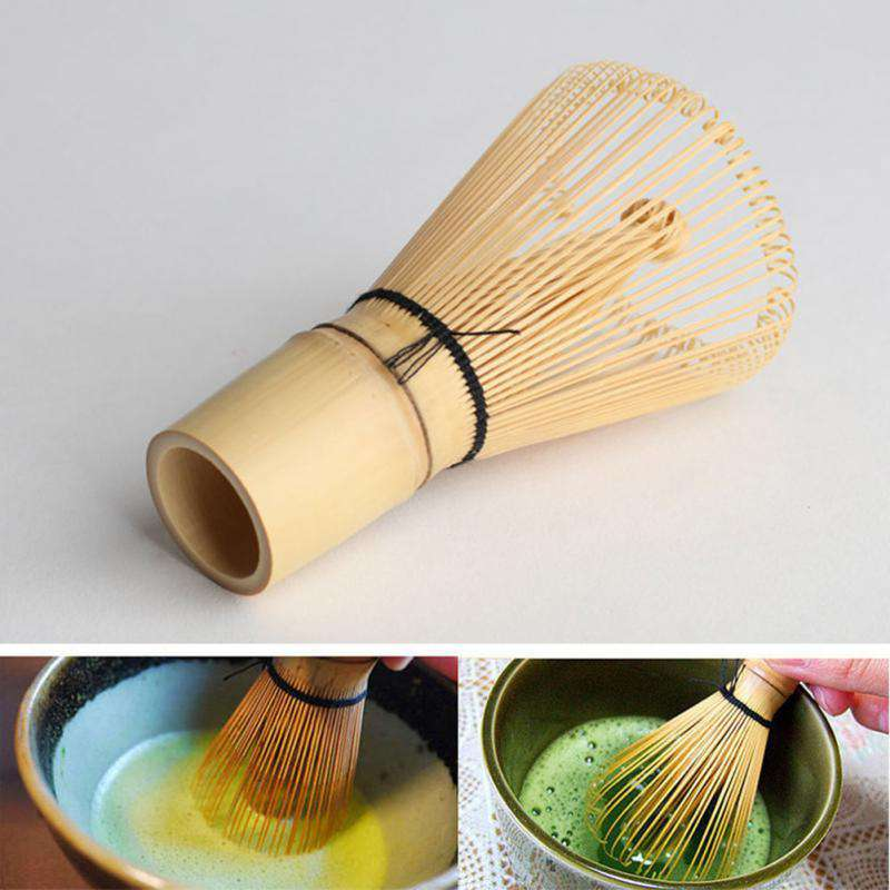 1PC Matcha Green Tea Powder Whisk Matcha Bamboo Whisk Bamboo Chasen Useful Brush Tools Kitchen Accessories - Gustobene