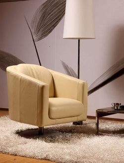 real leather Chair modern leisure chair with Top italian leather # swivel chair genuine leather sofa chair - Gustobene
