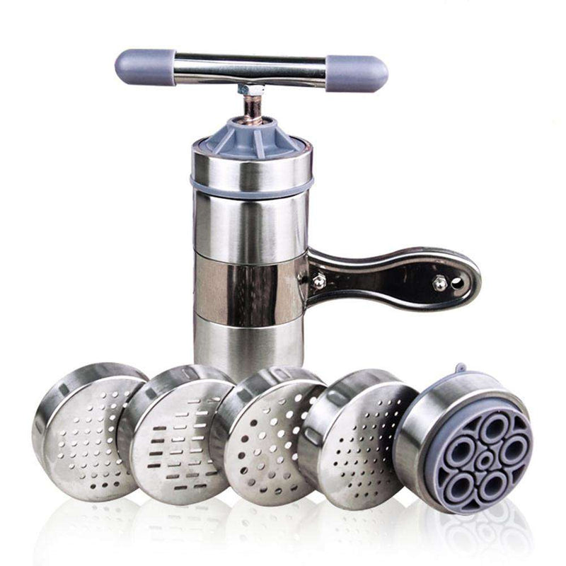Manual Noodle Maker Press Pasta Machine Kitchenware Crank Cutter Fruits Juicer Cookware With 5 Pressing Moulds Making Spaghetti