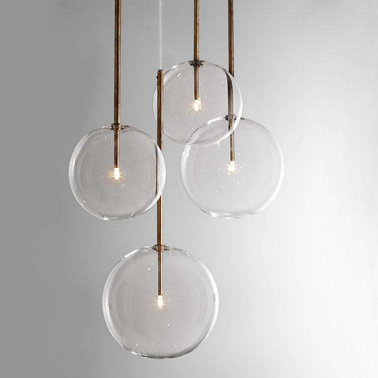 Clear Simple Creative Glass Lights - Gustobene