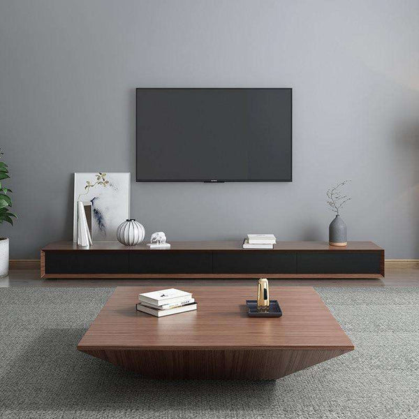 Nordic coffee table TV cabinet combination simple small apartment Italian minimalist light luxury coffee table TV cabinet living