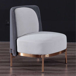 U-BEST  Modern Living Room Italian Designer Lounge Chair Upholstered Fabric Metal Frame Tape Armchair