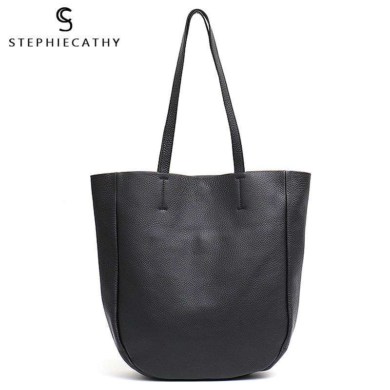SC Luxury Genuine Leather Women Tote Large Shoulder Bags Ladies Italian Leather Handbags Daily Female Casual Laptop Bag Shopping - Gustobene