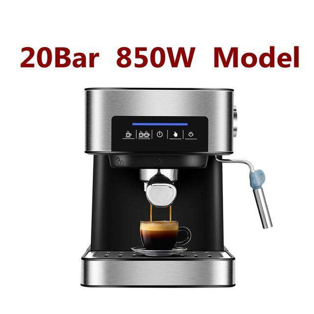CUKYI Italy espresso coffee machine 20 BAR High Pressure Steam semi automatic coffee maker Milk Bubble Coffee Makers EU US plug - Gustobene