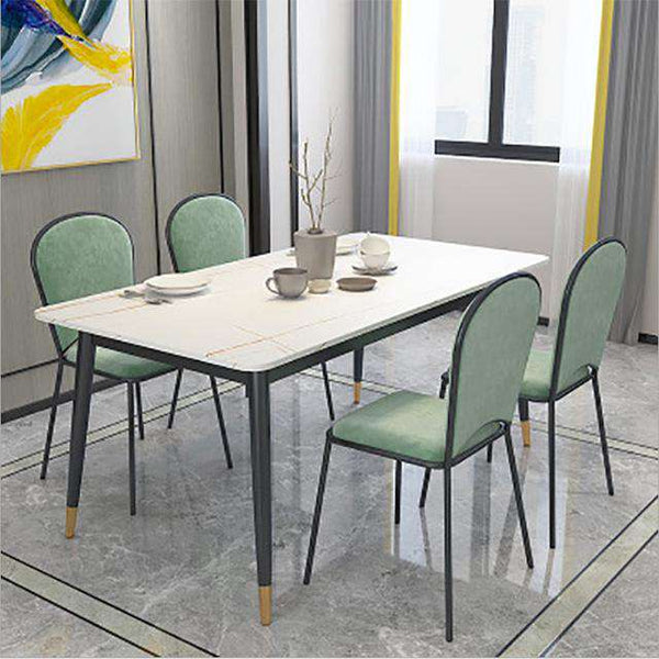 Modern dining table dining room furniture design, Italian luxury hotel dining room marble fashion simple and firm dining table