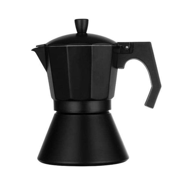 New 3/6 Cups Mocha Latte Coffee Maker Italian Moka Espresso Cafeteira Percolator Pot Stovetop Coffee Maker Coffee Pot Black