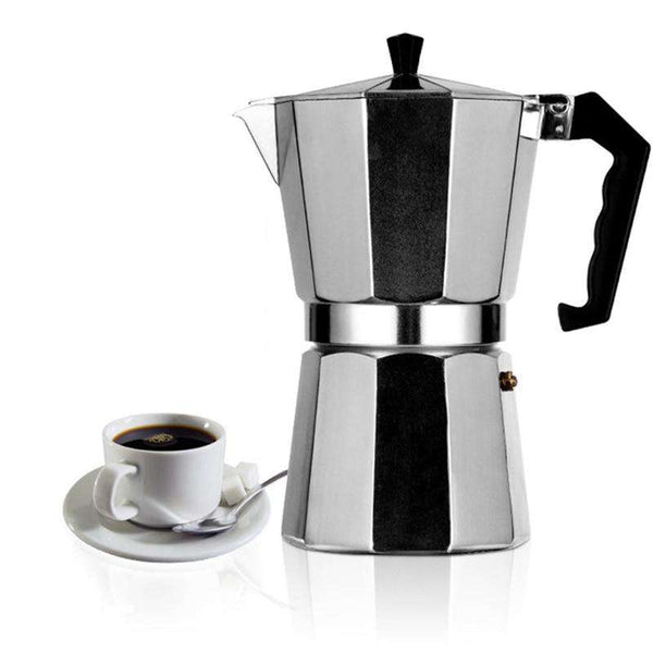 Italian Moka Espresso Coffeeware Mocha Latte Aluminum Coffee Maker Percolator Pot 100/200/300/450/600ML Stovetop Coffee Machine - Gustobene