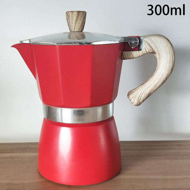 Aluminum Italian Moka Espresso Coffee Maker Percolator Stove  Coffee Maker Pot 150/300ML Stovetop Percolator Espresso Pot - Gustobene