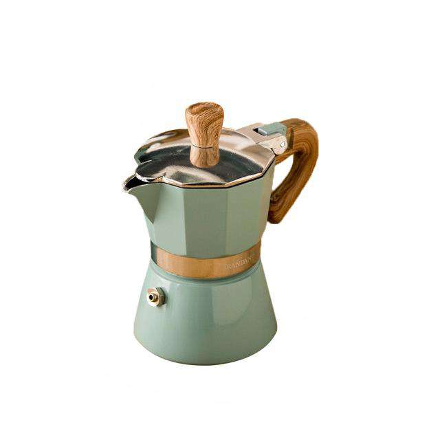 Aluminum Italian Moka Espresso Coffee Maker Percolator Stove Top Pot 150/300ML Kitchen Tools Stovetop - Gustobene