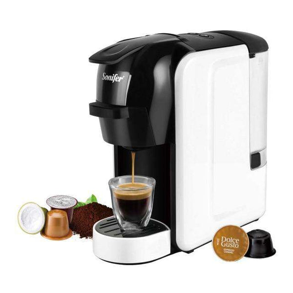 Italian Espresso Electric Coffee Capsule Machine 3 in 1 For Nestle Capsules Kitchen Appliances 19 bar Coffee Machine Sonifer - Gustobene