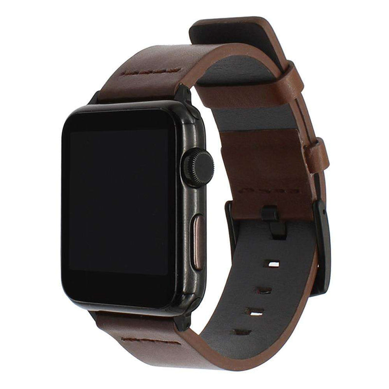 Italian Oily Leather Watchband for iWatch Apple Watch 38mm 40mm 42mm 44mm Series 5 4 3 2 1 Watch Band Steel Clasp Strap Bracelet - Gustobene