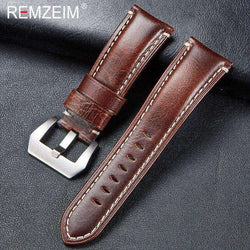 New Arrive Genuine Leather Strap 20 22 24 26mm Italian Imported High Quality Leather Sports Rough Thick Strap for Men Watch