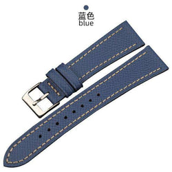 Italian palm pattern leather watchband 18 19 20MM, epsom leather and men's leather strap, retro leather strap