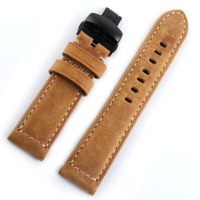 Italian Genuine Leather Watchband 22mm Quick Release for Samsung Gear S3 Classic Frontier Gear 2 Neo Live Watch Band Wrist Strap - Gustobene