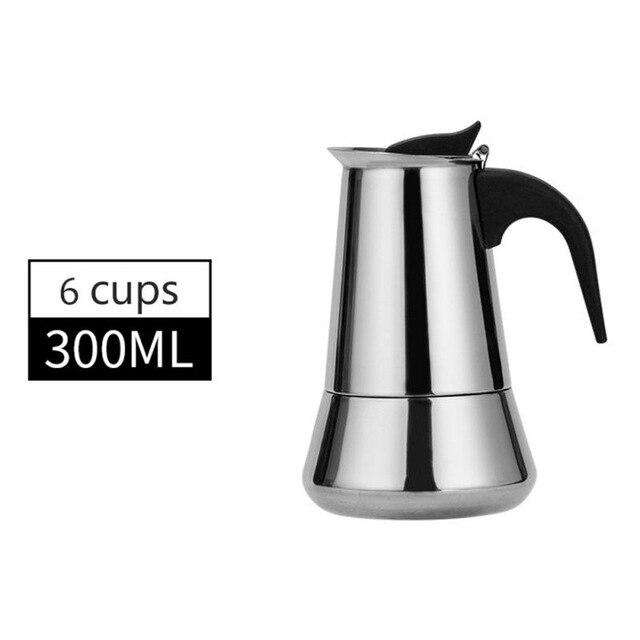 Coffee Makers Italian Top Moka Espresso Cafeteira Expresso Percolator 1100/200/300/450/600ml Stovetop Coffee Maker Pot Hot New - Gustobene