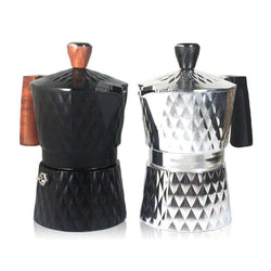 Mocha pot Italian classic aluminium coffee aluminum pot extracts grease office household drinkware moka coffeepot coffeemaker