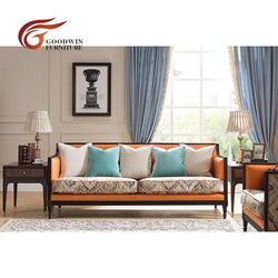 Liriodendron wood furniture living room luxury sofa italian WA371
