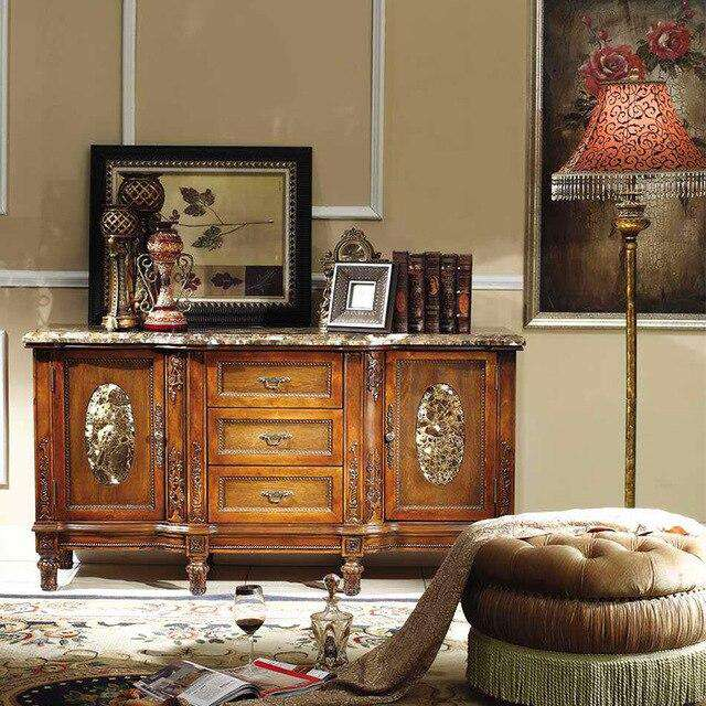 italian furniture antique home furniture side cabinet china cabinet Antika ev mobilya yan kabin çin dolabı GH170 - Gustobene