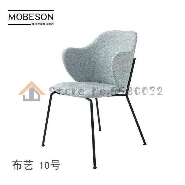 Italian minimalist wrought iron chair simple home backrest armrest dining  living room study bedroom lounge - Gustobene