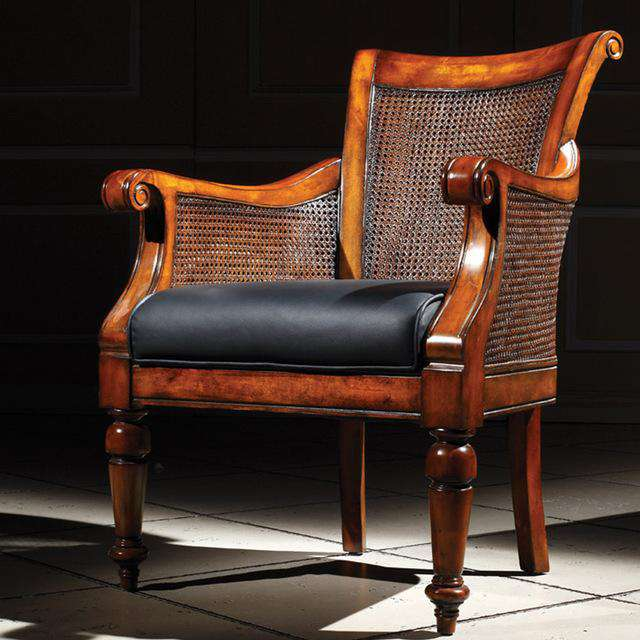 Italian Furniture Sofa Chair Luxury single person sofa Living Room Leather Leisure Chair GH127 - Gustobene