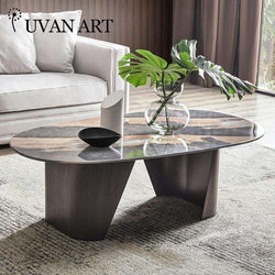 Italian coffee table dining table dual-purpose living room low table oval tea machine table 232B-18