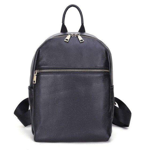 2020 Brand New Designer Fashion 100% Top Italian Real Genuine Leather Women's Backpacks Ladies Girls School Notebook Cowhide Bag - Gustobene