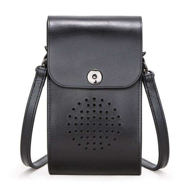 mini female messenger bag multi-function cowhide women's trend crossbody bags Fashion women Shoulder New Design free shipping - Gustobene