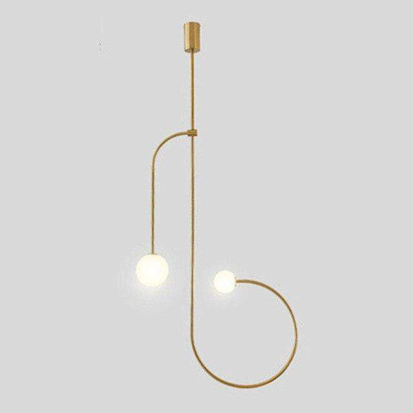 Italian Designer Minimalist Iron Line Pendant Lights Restaurant Dining Room Living Room Hanglamp Home Decor Bedroom Bedside Lamp - Gustobene