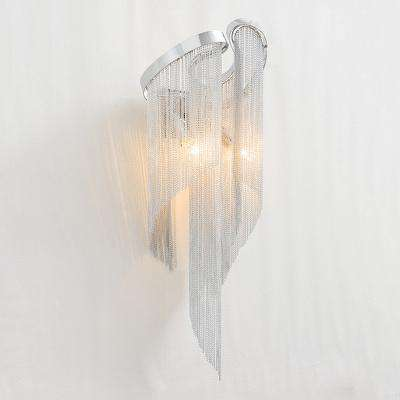 Italian Atlantis Luxury Chain Light Wall Lamps mirror light Stream sconce Wall Lights Bathroom light bedroom lamp For LOFT decor - Gustobene