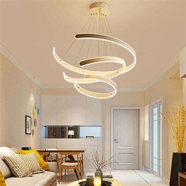 Italian LED Chandeleir Bedroom Kitchen Dining room Studio luminaires suspendus Vintage Loft Decor spiral staircase chandelier - Gustobene