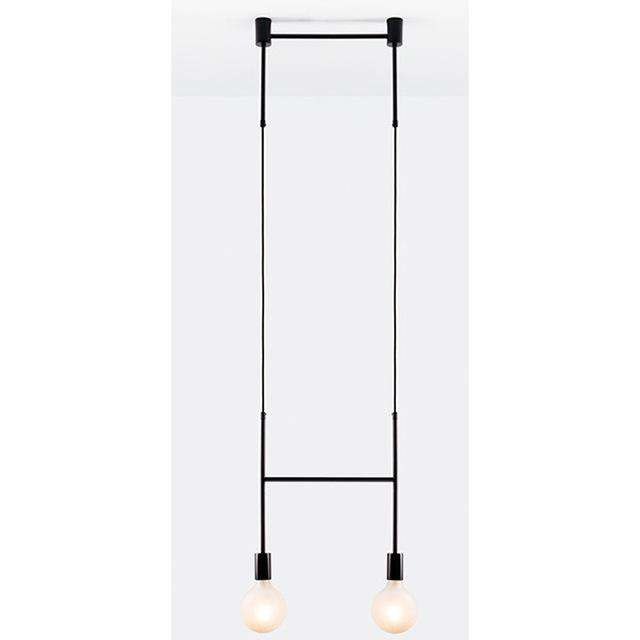Long led chandelier Italian design pendant lamp Black Rose Gold Kitchen bar restaurant Dining room Iron tube chandelier - Gustobene