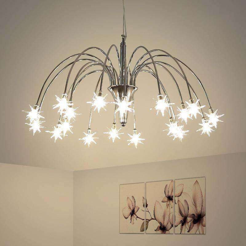 Italian design Star Chandelier Lamp Living room Bedroom Kids room girl chandelier interior home luminaire design pendant lamp - Gustobene