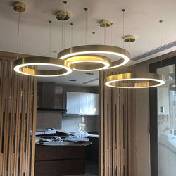 Italian design Chandelier lamp Hotel Project Living room Large Ring Chandelier Indoor home art deco rose gold chandelier - Gustobene