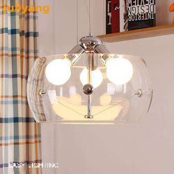Italian design high-grade transparent glass chandeliers wholesale minimalist bedroom restaurant table lamps - Gustobene