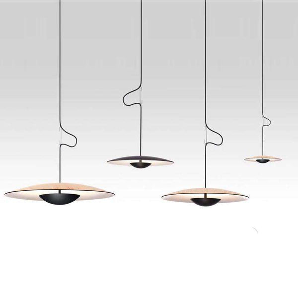 Italian Designer Samurai Hats UFO Pendant Lights Nordic Modern Hanging Lamps for Living Room Dining Room Kitchen Saucer Fixtures - Gustobene