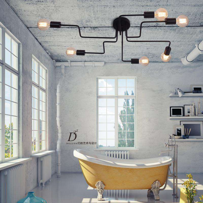 Multiple Rod Metal Chandelier - Gustobene