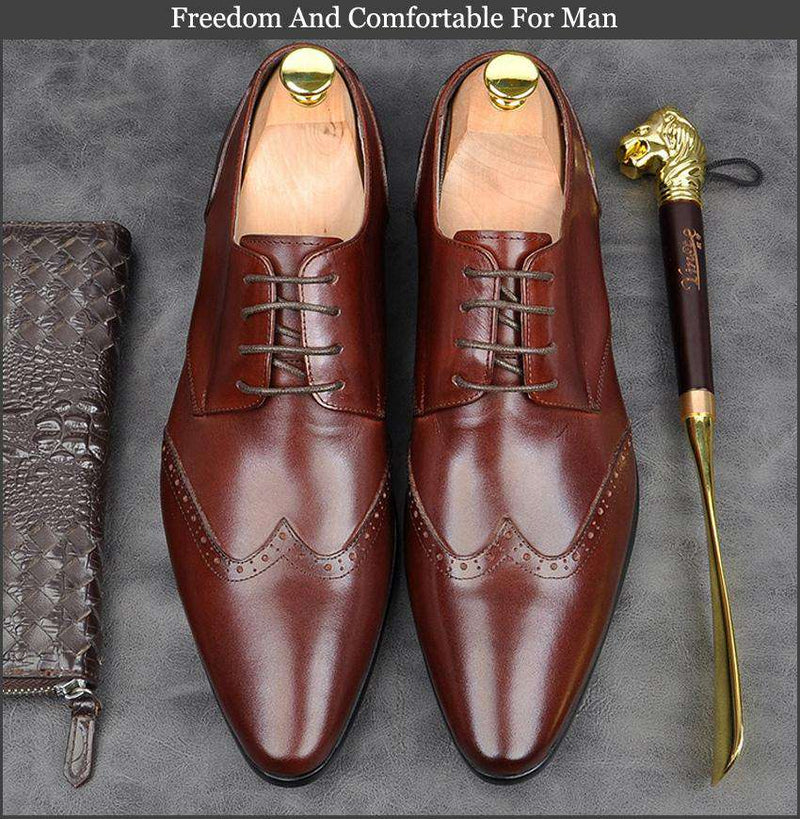 Genuine Italian Design Leather Party Shoes