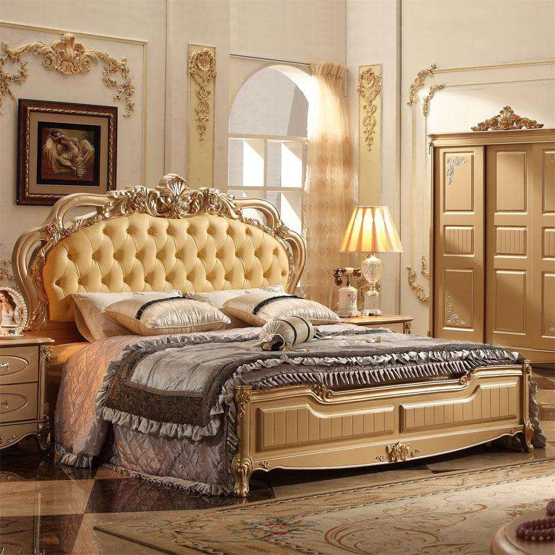 Classical Italian Bedroom Set With Good Quality - Gustobene