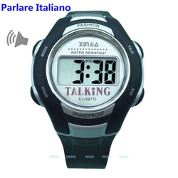 Italian Talking Watch Big Voice For Blind People Quartz Alarm Clock