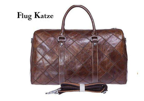 Flug Kazte  Super Large Genuine leather Travel Bag Italian Leather Weekender  Cowhide Duffle - Gustobene