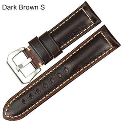 MAIKES Vintage red Italian cow leather watch strap 20mm 22mm 24mm 26mm watch accessories bracelet watchbands for Panerai band