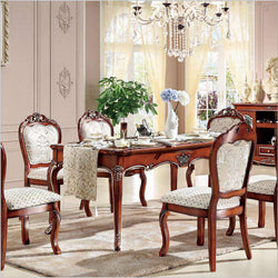 Antique Style Italian Dining Table, 100% Solid Wood Italy Style Luxury Dining Table p10236