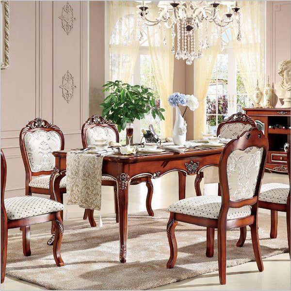 Antique Style Italian Dining Table, 100% Solid Wood Italy Style Luxury Dining Table p10236 - Gustobene